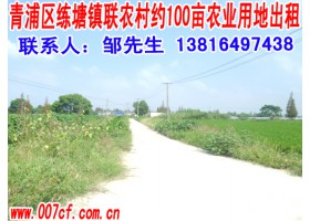 青浦区100亩左右农业用地出租