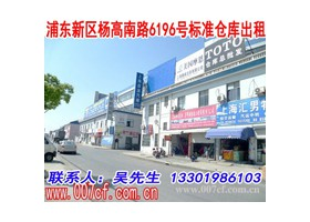浦东新区杨高南路标准仓库出租