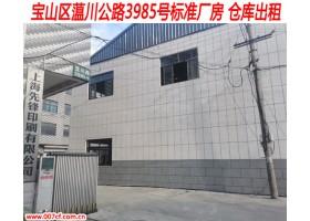 宝山区标准厂房 仓库出租